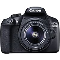 Canon EOS 1300D 18MP Full HD 1080p Wi-Fi Digital SLR Camera with 18-55mm Lens (Black)