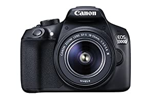 Canon EOS 1300D DSLR Camera with EF-S18-55 DC III F3.5-5.6 Lens - Black