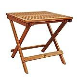 Indoba Hochwertiger Gartentisch klappbar Eukalyptus Holztisch 50x50 cm Holz Tisch Garten