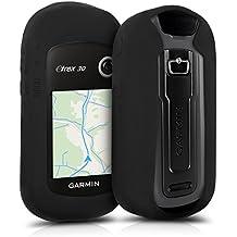 kwmobile Funda para Garmin eTrex 10/20/30/201x/209x/309x - Estuche Protector de navegador GPS para Ciclismo - Cubierta Case Cover para Navi de Bicicleta Negro