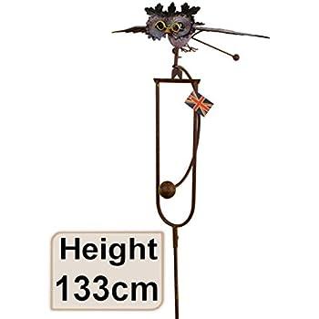 East2eden Rocking Balancing Flying Owl Or Crow Metal Garden Wind Rocker  Spinner Ornament (Rocking Owl)