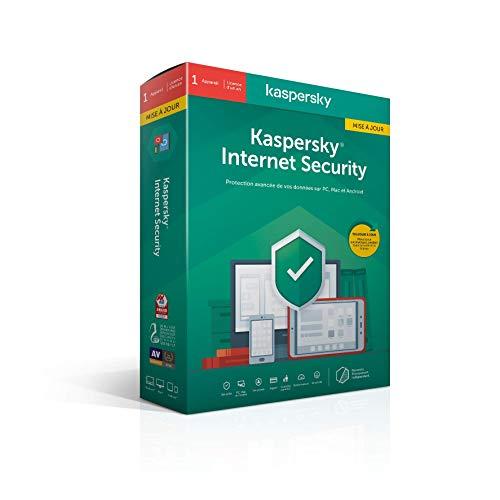 Kaspersky Internet Security 2020 Mise à jour (1 Poste / 1 An)|Internet Security|1 appareil|1 An|PC/MAC/Android|Telechargem