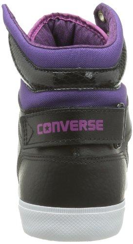 Converse Chuck Taylor All Star 12 Leath Mid, Baskets mode mixte adulte Noir (Noir/Vert)