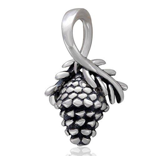 Soulbead Pinecone Pigna Charm in argento Sterling 925con perline per braccialetto stile europeo