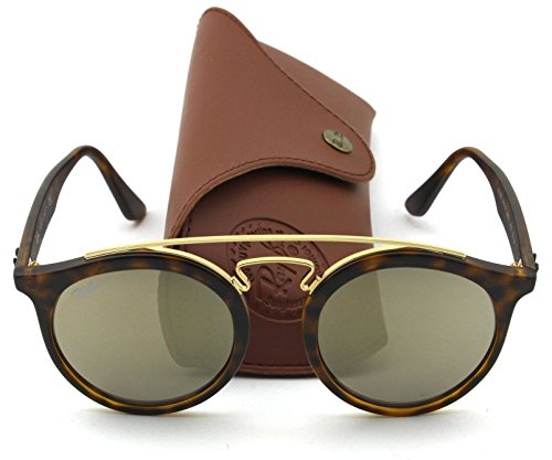 Ray-Ban RB4256 GATSBY I Retro-modern Sunglasses (Matte Havana Frame/Brown Gold Mirror Lens 60925A, 46)