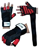 EVO Fitness Weight lifting Gloves Gym Neoprene Wrist Wraps Support Straps Wheelchair Cycling (XL)