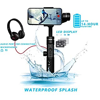 FeiyuTech SPG 2 3-Achsen Handheld Gimbal Splashproof Stabilisator Payload 300g für iPhone XS X 8 7 Samsung S8 Action Kamera Gopro Audio Übertragung Bluetooth Dual Mode Verbindung Aluminium Legierung
