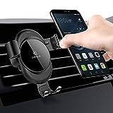 Cafele Auto Handy Halterung KFZ Lüftung Halter für iPhone, Samsung, Huawei, Navi, Smartphone (Schwarz)