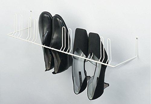 Wand-Schuhablage Schuhhalter Schuhregal zum Schrauben an die Wand   für 6 Paar Schuhe   Breite: 630 mm   RAL 9010 reinweiß   Möbelbeschläge von GedoTec®