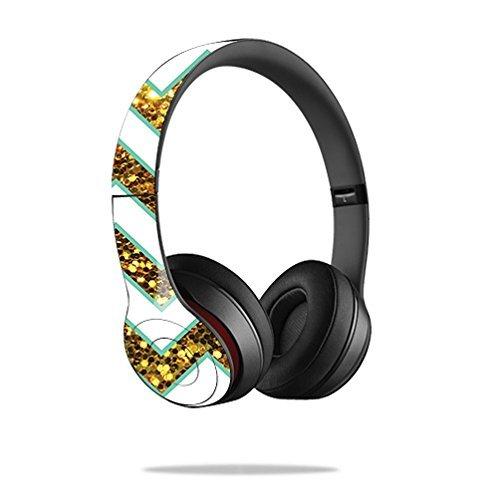 MightySkins Skin/Aufkleber kompatibel mit Beats Sticker, 100, Beats Solo 2 Wireless, Glitzy Chevron (2 Wireless Beats)