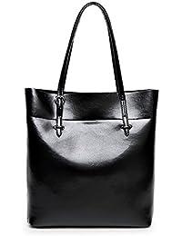 Women's New Fashion Handbag PULeather Shoulder Bags Tote Bags Hot Sale (Black) By Jieway