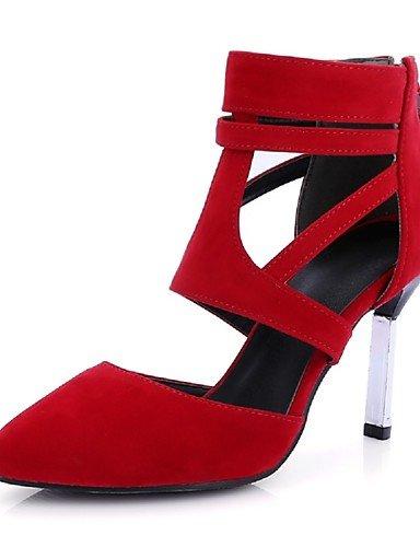 WSS 2016 Chaussures Femme-Habillé / Décontracté / Soirée & Evénement-Noir / Rouge / Amande-Talon Aiguille-Talons / Bout Pointu-Talons-Similicuir almond-us5.5 / eu36 / uk3.5 / cn35