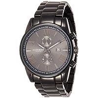 Akribos Xxiv Men's Swiss Quartz Watch With Black Dial Analogue Display and Black Stainless Steel Bracelet Ak812Bk