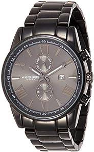Akribos XXIV Men's Analogue Display Swiss Quartz Watch with Stainless Steel Brac