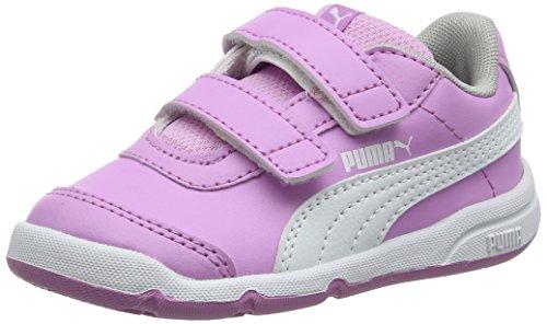 Puma stepfleex 2 sl v inf, scarpe da fitness unisex – bambini, rosa (orchid white-gray violet 11), 26 eu