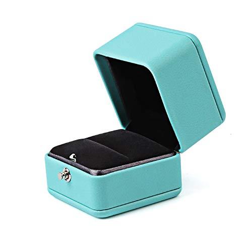 ljym88 Ring Box, quadratische Ring Inhaber Fall für Ringe, RomanticJewelry Fall, Mini Schmuck Box Organizer, Ohrring, Halsketten Geschenk für Mädchen Mutter Frauen