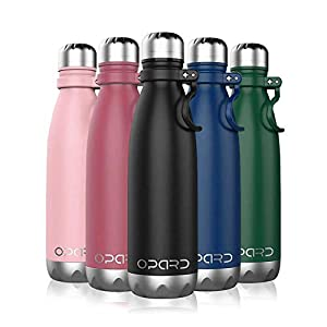 Opard Trinkflasche Edelstahl Thermosflasche 500ml Vakuumisolierte Doppelwandige -Isolier Flasche für Das Laufen, wasserflasche Fitness, Yoga, Water Bottle Im Freien und Camping