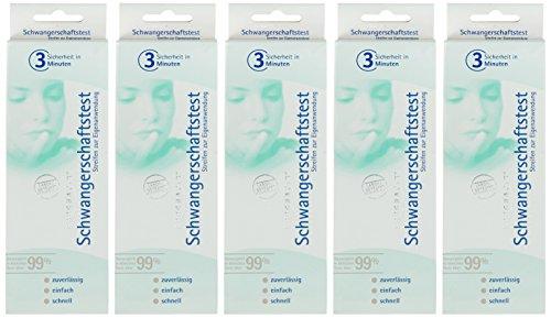 Pregnafix Schwangerschaftstest 902 5er Pack (5 x 1 Stück)