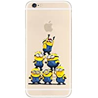 New Disney trasparente Cartoons character Minnions and others trasparente in poliuretano termoplastico per iPhone-Cover per Apple iPhone 5, 5S, 5C, 6/6S, 7 plastica, (iphone 7/iphone 8, 6 Minions)