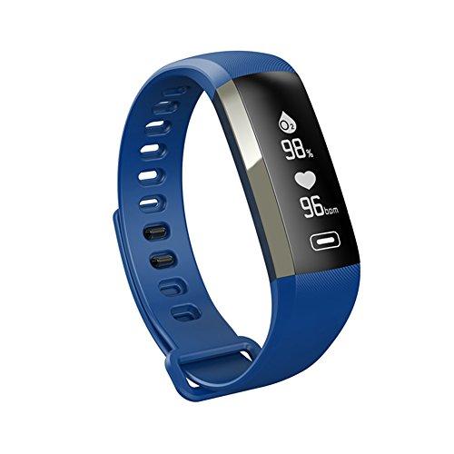 Ruiren Ruiren Smart Armband, Blutdruck Messgerät / Blutsauerstoff / Herzfrequenz Tracker Bluetooth Schrittzähler mit Schlafmonitor, Fitness Tracker Armband resistent mit Schlaf-Monitor / Wecker / Schrittzähler Armband / Kalorienzähler Armband mit Anruf / SMS Erinnerung für IOS Android Smartphones