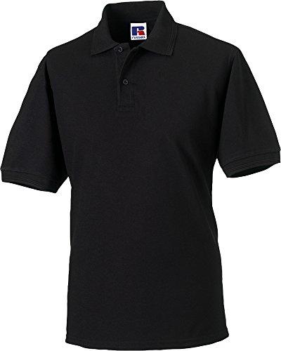 Russell strapazierfähiges mit Kragen/Bündchen Short Sleeve Casual Wear Herren Polo-Shirt Rot - Rot
