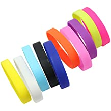 Pinzhi 10 x Multicolor Pulsera Brazalete Silicona Wristband Regalo para Mujer Hombre