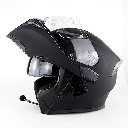 NBZH Modular Motocicleta Casco Moto Bluetooth Auriculares