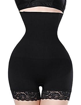 Queenral cintura alta control bragas Butt Lifter cintura adelgazar cinturón ropa interior
