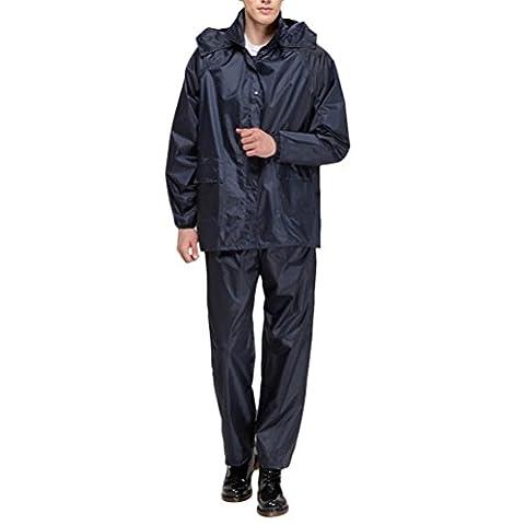Zhhlaixing Hot Outdoor Hiking Waterproof Split Raincoat Mens Sportwear Jacket Pants Set