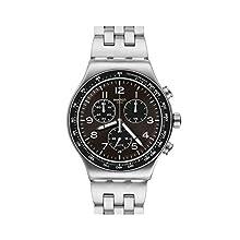 Swatch Hommes Analogique Quartz Suisse Montre avec Bracelet en Acier Inoxydable YVS465G