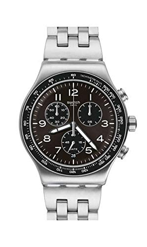 Swatch Orologio Analogico Quarzo Svizzero Uomo con Cinturino in Acciaio Inox YVS465G