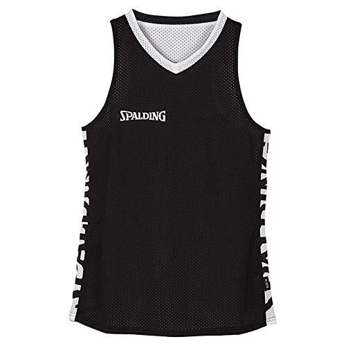 Spalding Damen Essential Reversible Shirt 4HER Trikot, schwarz/Weiß, M