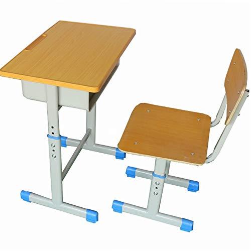 Wuxingqing Kinder Tisch und Stuhl Set Kinder Schreibtisch und Stuhl Set Student School Study Desk Tischhöhe einstellbar Kinder Arbeiten mit Schublade Speicher Station -