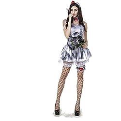 Halloween/traje/para las mujeres/falda sexy/plus size/fiesta/terror]/novia fantasma-Blanco M