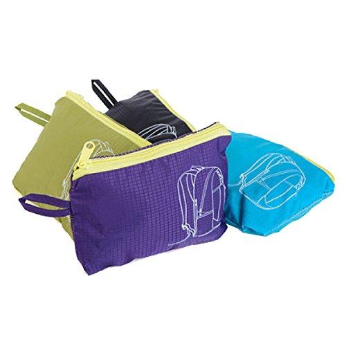 Yy.f Ultra-robust Leicht Pauschalreisen Rucksack Wandern Tagesrucksack Ultra-light Falten Outdoor-Reisen Camping Reiten Schultaschen. Multicolor Blue