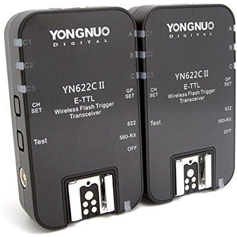 Yongnuo YN-622C II Wireless TTL E-TTL Flash Trigger Flash Disparadores Wireless Flash Radio Transmisor-receptor inalambrico para Canon + WINGONEER®