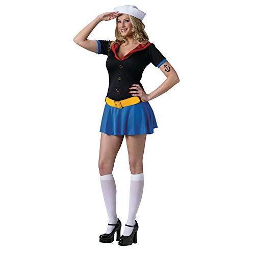 Popeye Adult Kostüm - Damen-Kostüm Sexy Popeye