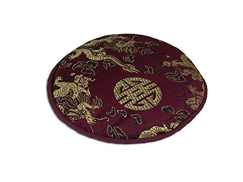 Pad für Klangschale mit verschiedenen tradionellen Mustern Ø ca. 13 cm -9865- (violett Drache) in verschiedenen Farben erhältlich - Therapeutische Pad