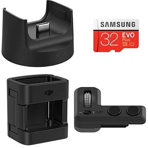 DJI Zubehörset für Osmo Pocket - Enthält 1 Fernbedienung, 1 Funkmodul, 1 Zubehörhalterung, 1 Samsung microSD-Karte mit 32 GB - 4 Zubehörteile - Schwarz -