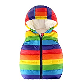 Zerototens Kids Jacket,1-6 Years Old Toddler Boys Girls Padded Gilet Autumn Winter Warm Solid Sleeveless Down Vest Tops Lightweight Button Waistcoat Outwear
