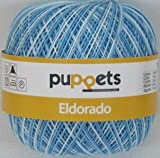 50g Puppets eldorado - Farbe: 56 - hellblau meliert - Häkelgarn Stärke 10