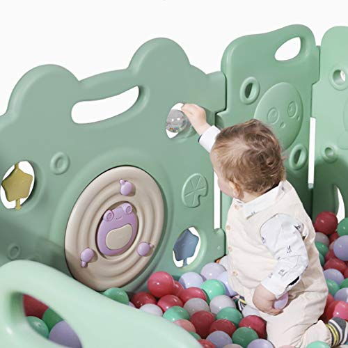 LIUFS-Playpens Children's Indoor Play Fence Crawling Fence Home Safety Playground (Size : 16+2 Fence+crawling mat)