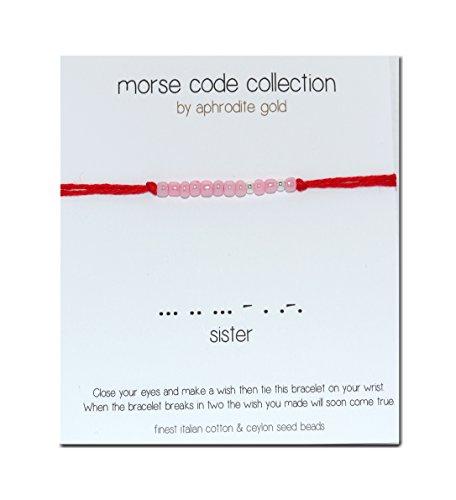 red-string-bracciale-sorella-codice-morse-sorella-calza-di-natale-regalo-di-natale