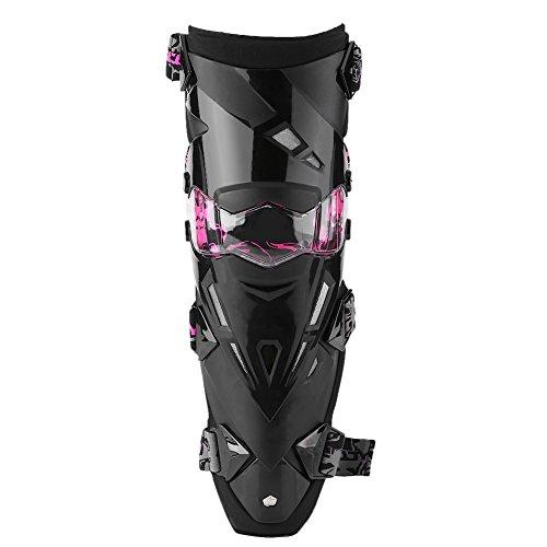 Qiilu 2pcs Motorrad Motocross Radfahren Knie Pads Breathable Kneelet Schutzausrüstung Set(Pink)