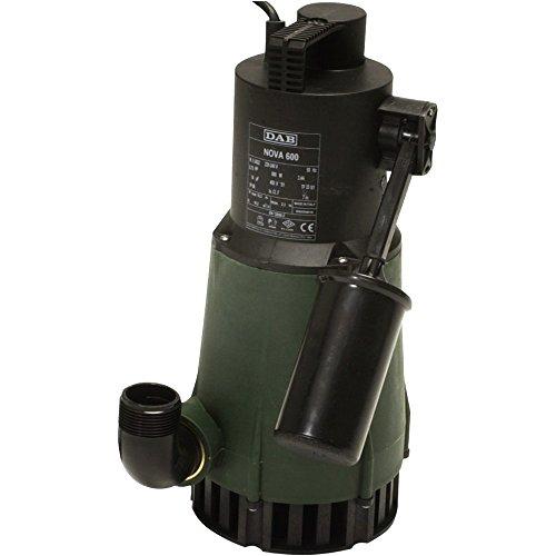 DAB Nova 600M-A SV-Tauchmotorpumpe mit Schwimmerschalter für Pumpen von klarem Wasser zu Hause. 0,55kW/0,75HP. Einphasig mit Pumpenkörper aus Spezial Edelstahl, Art. 103002744 (1 Hp Tauchpumpe)