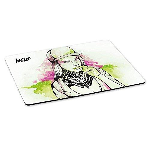 Lucie Mädchen (Gaming-Mousepad mit Namen Lucie und schönem Sketchbook-Motiv für Mädchen - Gamer-Mousepad | Mausmatte | Mauspad)