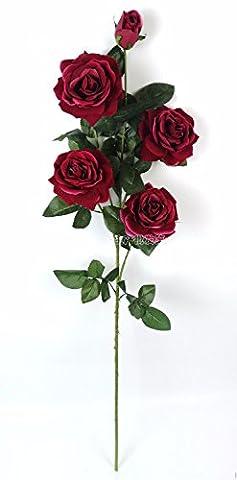 KAI-hoher grad simulation von großen rose samt blume - simulation einer gesamtlänge von 12 117cm (Essbare Arrangements Weihnachten)