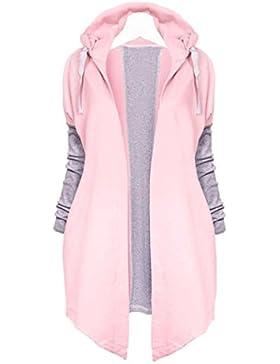 Internet Chaqueta de manga larga para mujer con capucha de manga larga abierta