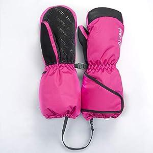 FREETOO Skihandschuhe Kinder Wasserdichte und Winddichte Winterhandschuhe Fäustlinge Kälteschutz in Winterzeit Leicht und Strapazierfähig Geeignet für 3-12 Jahre Mädchen und Jungen