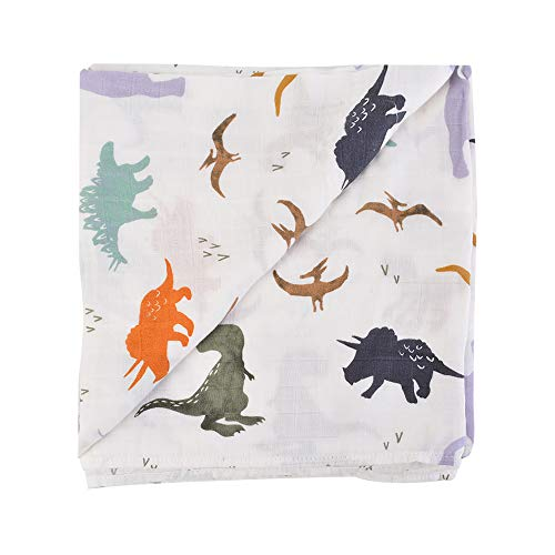 Godagoda Baby Badetücher Cartoon Dinosaurier Muster Druck Weich Baumwolle Multifuktional Handtücher Decke Teppich 120x120cm -
